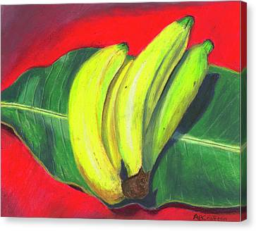 Lovely Bunch Of Bananas Canvas Print by Arlene Crafton