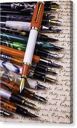 Lovely Fountain Pens Canvas Print