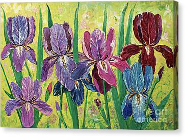 Lovely Garden Canvas Print by Kristian Leov