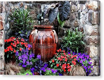 Canvas Print featuring the photograph Lovely Garden  by Trina Ansel