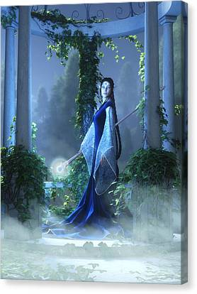Lovely Is The Night Canvas Print by Melissa Krauss