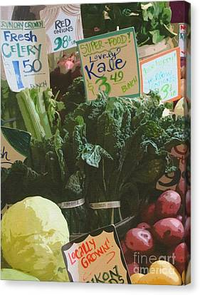 Lovely Kale Canvas Print by Lydia L Kramer