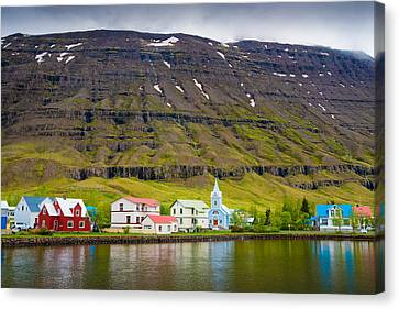Lovely Little Town In Iceland Canvas Print by Matthias Hauser