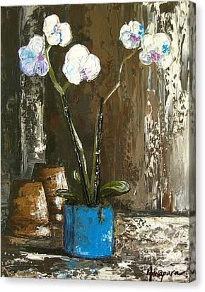 Interior Still Life Canvas Print - Lovely Orchids by Patricia Awapara