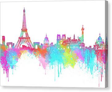 Landmarks Canvas Print - Lovely Paris  by Prar Kulasekara