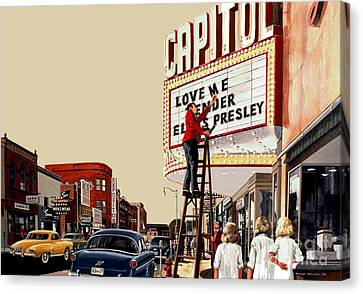 Canvas Print featuring the painting Love Me Tender by Michael Swanson