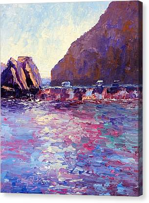 Lover's Cove Canvas Print by Terry  Chacon