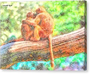 Lovers - Da Canvas Print