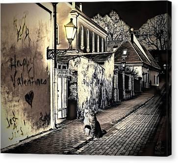 House Pet Canvas Print - Lovers Lane by Pennie  McCracken