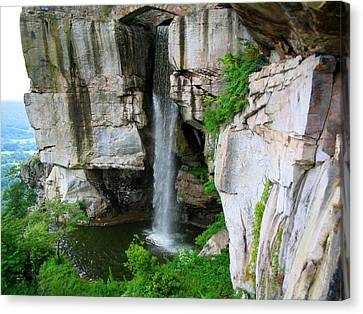 Lover's Leap Waterfall Canvas Print by April Patterson