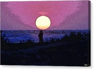 Lovers Sunset Canvas Print
