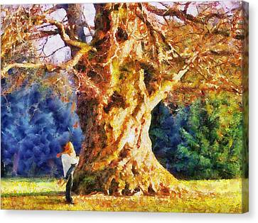 Lovers Tree Canvas Print by Jai Johnson