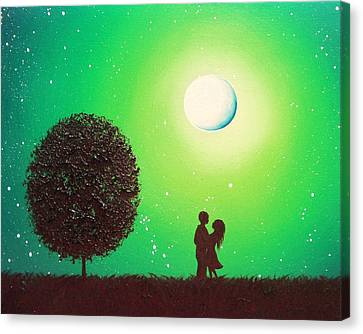 Couple Hugging Canvas Print - Love's Embrace by Rachel Bingaman