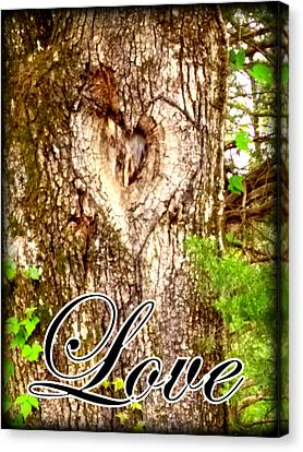 Love's Heart Canvas Print by Lesli Sherwin