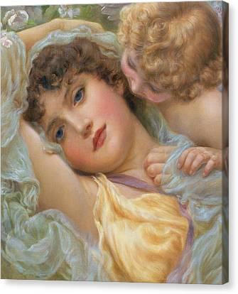 Love's Whispers Canvas Print by NP Davies