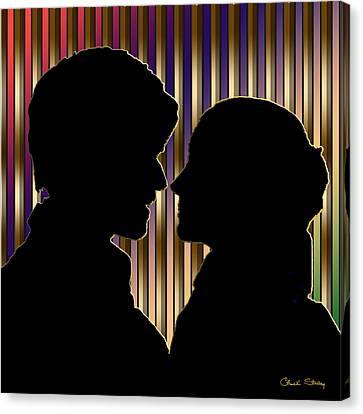 Canvas Print featuring the digital art Loving Couple - Chuck Staley by Chuck Staley