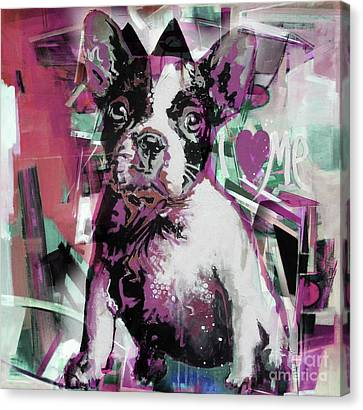 Chin On Hand Canvas Print - Loving Dog 66n by Gull G