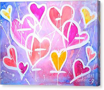 Loving Heart Canvas Print by Wonju H