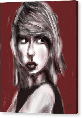 Taylor Swift Canvas Print - Loving Him Was Red by Jim Vance
