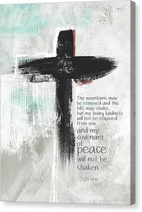Religious Canvas Print - Loving Kindness Cross- Art By Linda Woods by Linda Woods