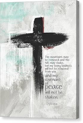 Jesus Canvas Print - Loving Kindness Cross- Art By Linda Woods by Linda Woods