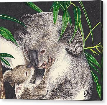 Koala Canvas Print - Loving Kiss by Scarlett Royal