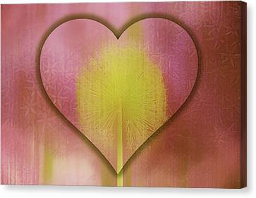 Loving Light Romantic Heart Canvas Print by Georgiana Romanovna