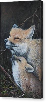 Loving Mom Canvas Print by Theresa Jefferson