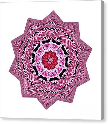 Yantra Canvas Print - Loving Rose Mandala By Kaye Menner by Kaye Menner