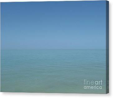 Loving Union Of Sky And Ocean Canvas Print by Agnieszka Ledwon