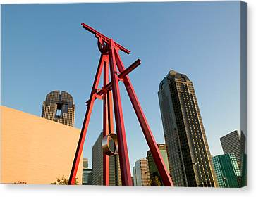 Dallas Canvas Print - Low Angle View Of A Sculpture, Dallas by Panoramic Images