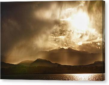 James Insogna Canvas Print - Low Clouds On The Colorado Rocky Mountain Foothills by James BO  Insogna