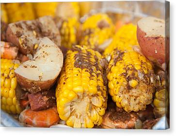 Low Country Boil Canvas Print by Erin Cadigan