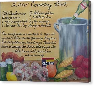 Low Country Boil Canvas Print by Paula Robertson