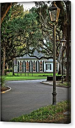 Canvas Print featuring the photograph Low Country Wedding Chapel by Margaret Palmer
