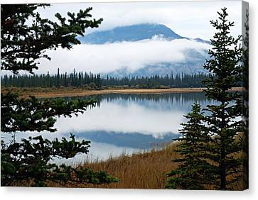 Low Hanging Clouds Canvas Print by Larry Ricker