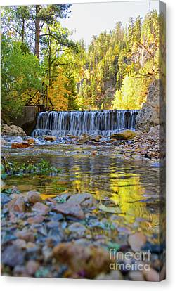 Low Look At The Falls Canvas Print