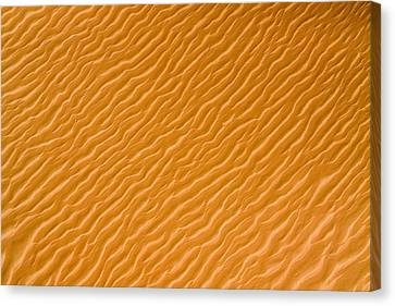Low Rippling Dunes In The Northern Canvas Print by Michael Fay