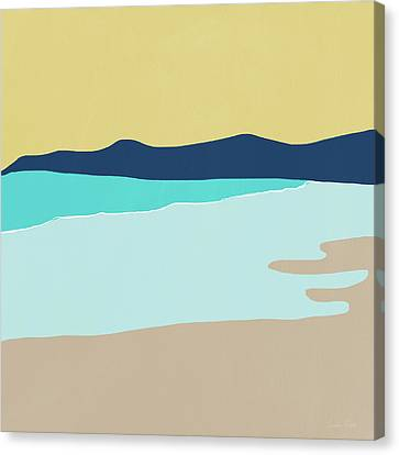 Low Tide- Art By Linda Woods Canvas Print