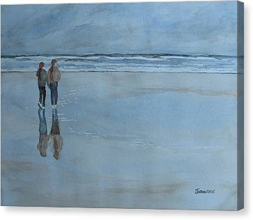 Low Tide At Agate Beach Canvas Print by Jenny Armitage