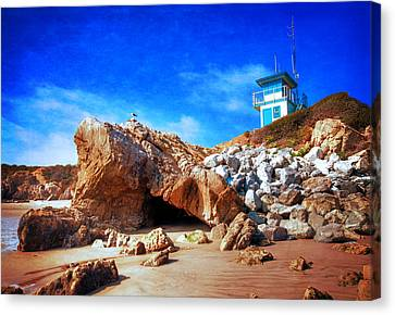 Low Tide At Leo Carillo Canvas Print by Lynn Bauer