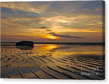 Low Tide At Mayflower Beach Canvas Print by Amazing Jules