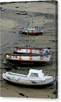Low Tide At St. Ives Harbor Canvas Print