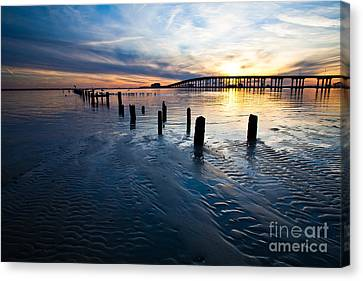 Low Tide Biloxi Bay Bridge Canvas Print by Joan McCool