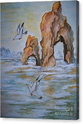 Low Tide Canvas Print by Carol Grimes