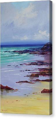 Headlands Canvas Print - Low Tide Colors by Graham Gercken