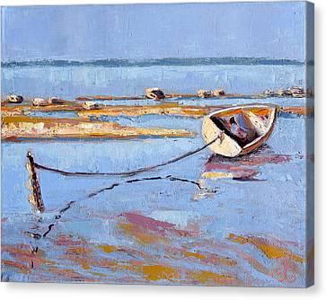 Low Tide Flats II Canvas Print by Trina Teele
