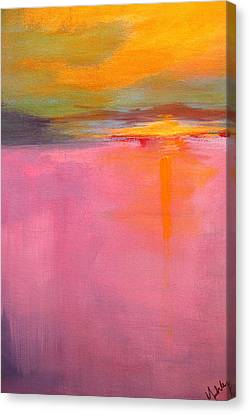 Abstract Seascape Canvas Print - Low Tide by Nancy Merkle