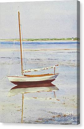 Low Tide Reflection Canvas Print by Karol Wyckoff