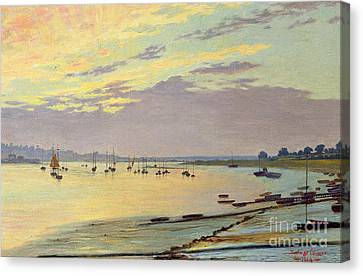 Low Tide Canvas Print by W Savage Cooper